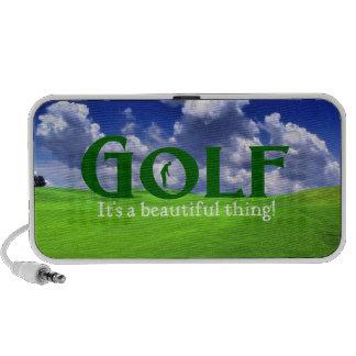 Golf su una cosa hermosa altavoces de viaje