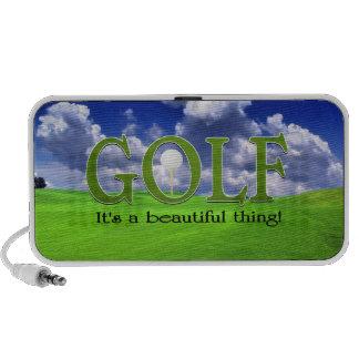 Golf su una cosa hermosa altavoces de viajar