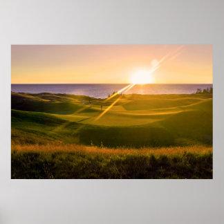 Golf Sunset Print