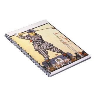 Golf Swing 1915 Spiral Notebook