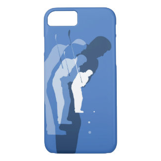 Golf Swing Abstract Phone Case Blue