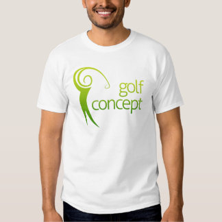 Golf swing abstract shirt