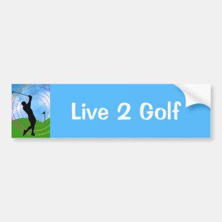 Golf Swing Car Bumper Sticker