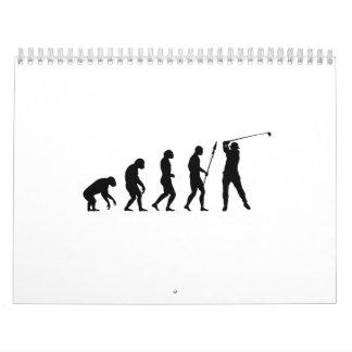 golf swing evolution calendar