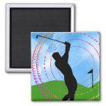 Golf Swing Refrigerator Magnets