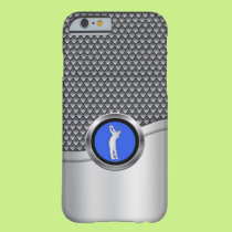 Golf Swing Sporty Metallic Look Barely There iPhone 6 Case