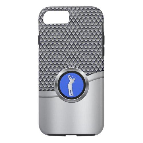 Golf Swing Sporty Metallic Look Phone Case
