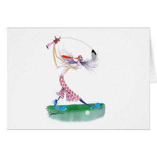 golf swing, tony fernandes card