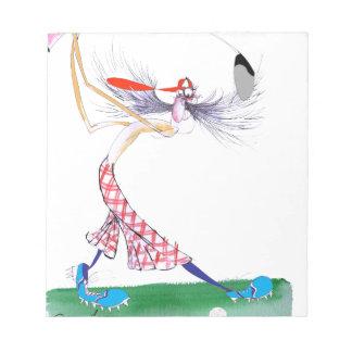 golf swing, tony fernandes notepads