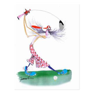 golf swing, tony fernandes postcard