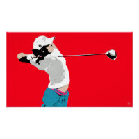 Golf Swing V - Art Print On Canvas