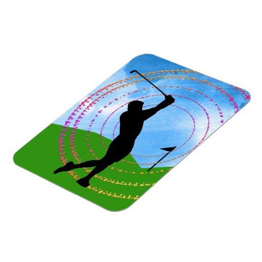 Golf Swing Vinyl Magnets