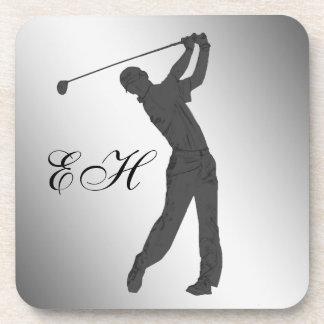 Golf Swinger Customizable Coaster