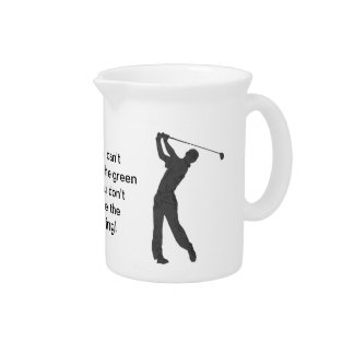 Golf Swinger Customizable Drink Pitchers