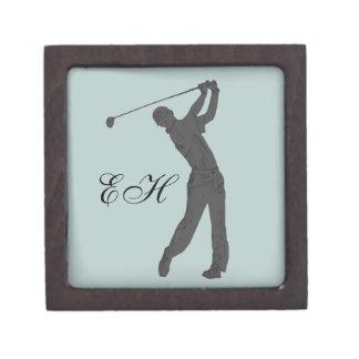 Golf Swinger Customizable Keepsake Box