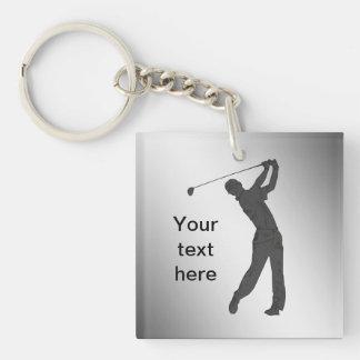 Golf Swinger Customizable Keychain