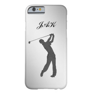 Golf Swinger Customizable Monogram Barely There iPhone 6 Case