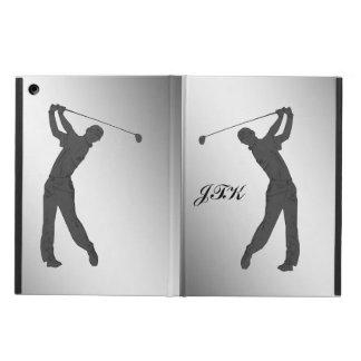 Golf Swinger Customizable Monogram Cover For iPad Air