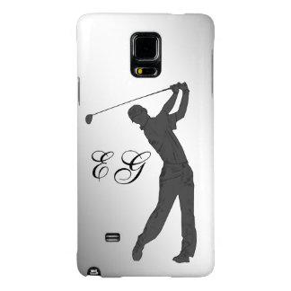 Golf Swinger Customizable Monogram Galaxy Note 4 Case