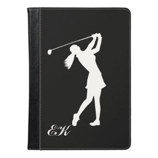 Golf Swinger Customizable Monogram iPad Air Case