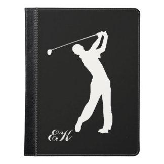 Golf Swinger Customizable Monogram iPad Case