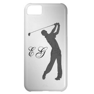 Golf Swinger Customizable Monogram iPhone 5C Case