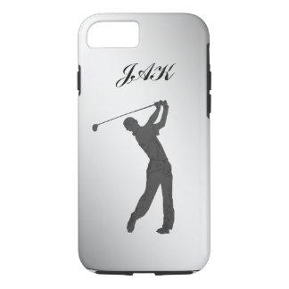 Golf Swinger Customizable Monogram iPhone 8/7 Case
