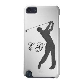 Golf Swinger Customizable Monogram iPod Touch (5th Generation) Case
