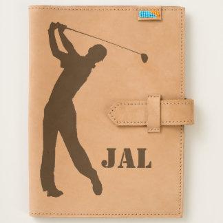 Golf Swinger Customizable Monogram Journal