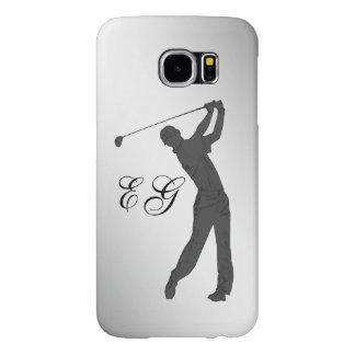 Golf Swinger Customizable Monogram Samsung Galaxy S6 Case
