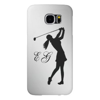 Golf Swinger Customizable Monogram Samsung Galaxy S6 Case