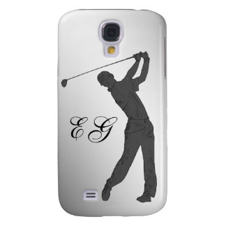 Golf Swinger Customizable Monogram Samsung S4 Case