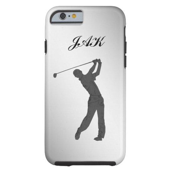 Golf Swinger Customizable Monogram Tough iPhone 6 Case