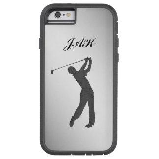 Golf Swinger Customizable Monogram Tough Xtreme iPhone 6 Case
