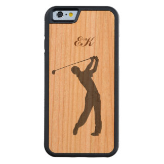 Golf Swinger Customizable Monogram Carved® Cherry iPhone 6 Bumper Case