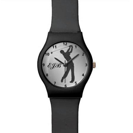 Golf Swinger Customizable Monogram Wrist Watch