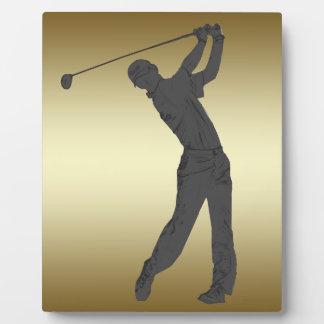 Golf Swinger Customizable Plaque