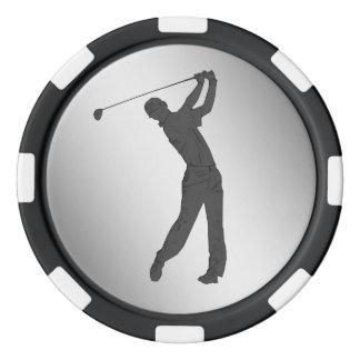 Golf Swinger Customizable Set Of Poker Chips
