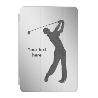 Golf Swinger Customizable Text iPad Mini Cover