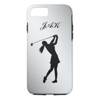 Golf Swinger, Female, Customizable Monogram iPhone 7 Case