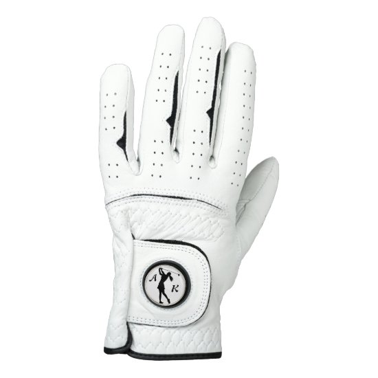 Golf Swinger, Female,  Monogram Golf Glove