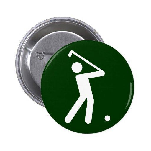 Golf Symbol Button