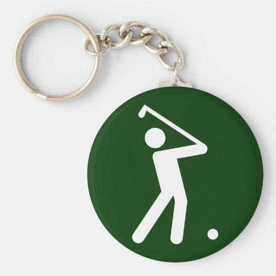Golf Symbol Keychain