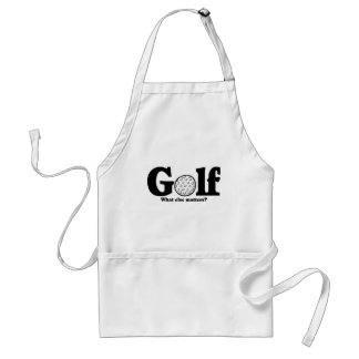 Golf T-shirts and Gifts. Adult Apron