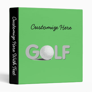 GOLF T-shirts and Gifts Binder