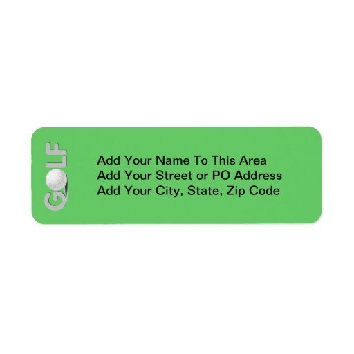 GOLF T-shirts and Gifts Return Address Labels