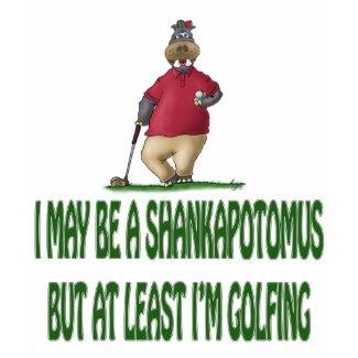 Golf t-shirts: Shankapotomus Hippo shirt