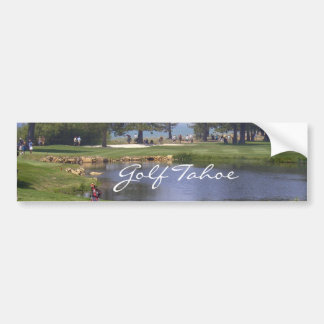 Golf Tahoe Bumper Sticker Golfing Tahoe Collection