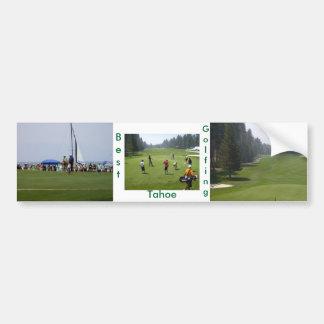 Golf Tahoe Bumper Sticker Golfing Tahoe Collection