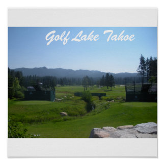 """Golf Tahoe Poster """"Golfing in Tahoe Collection"""""""